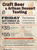 Details on South Jersey Craft Beer & Artisan Dessert Tasting