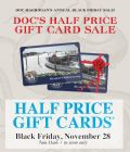 Details on The Ultimate Black Friday Half-Price Gift Card Sale!