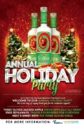 Details on Three Olives Jacked Apple Holiday Party at Plough & the Stars