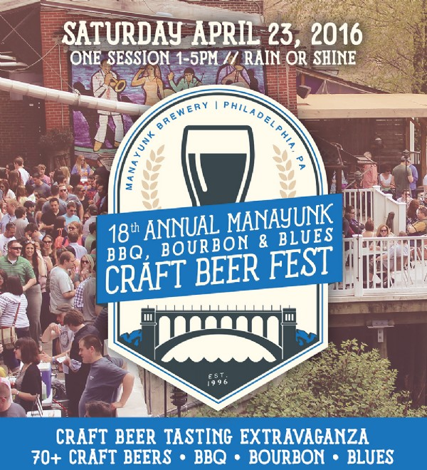 18th Annual Manayunk BBQ, Bourbon, and Blues Craft Beer Fest