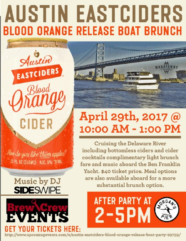 Austin Eastciders Blood Orange Release Boat Party