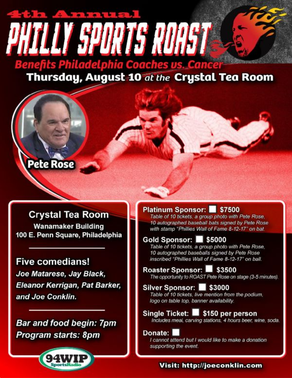 The 4th Annual Philly Sports Roast