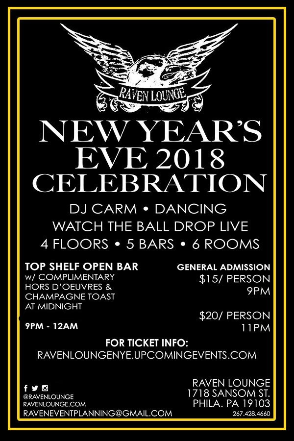 New Year's Eve 2018 Celebration at Raven Lounge