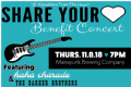 Details on 2nd Annual Share Your Heart Benefit Concert
