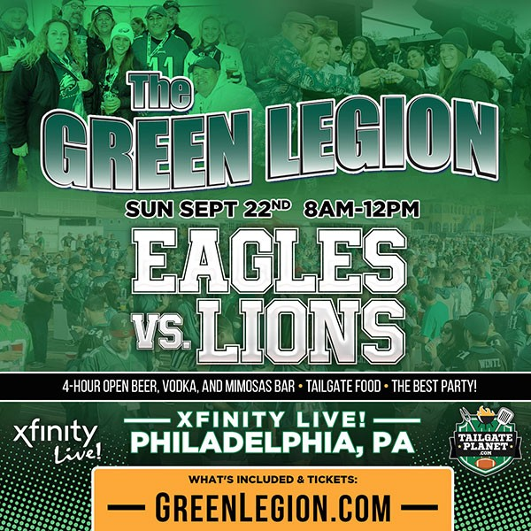 Eagles vs. Lions - Green Legion Home Game Tailgate Party